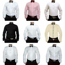 Designer Herren Hemden B-Ware Smoking Kragen Hochzeit Hemd Fliege Lang Krawatte