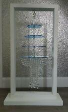 Hanging Chandelier crystal drape suspended cake kit and 100 cm wood hanger
