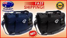 Sport Travel School NEW BAG backpack Double Zip Multi pocket Navy Black #3109