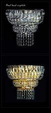 auténtico Cristal Apliques Disponible en plata o color Dorado Sólido