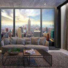 VLIES FOTOTAPETE New York Fenster Ausblick TAPETE Wohnzimmer WANDBILDER XXL 15