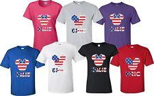 American US flag Mickey Head Minnie Head 4th of July With custom Names