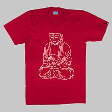 KRSP 3D Buddha T-SHIRT - ROSSO-TG-S, M, L & XL URBAN STREETWEAR FASHION