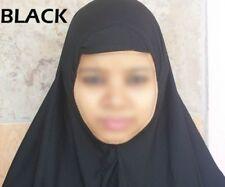 Hijab musulmán Tocados Bufanda Mujer Islámico Vestido Todos Los Tamaños Blanco