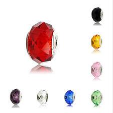 5/10X Murano Lampwork Glass Big Hole Loose Bead Fit European Charm Bracelet 14MM