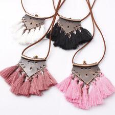 1PC Boho Tassel Fringe Earrings Sweater Chain Pendant Necklace Fashion Jewelry
