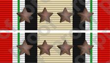 STICKER MILITARY RIBBON IRAQ 4 STARS