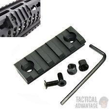 Keymod Aluminium 5 Slot 20mm Weaver Rail Section Key Mod Handguard Airsoft Black