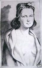 Gravure époque Art Déco Portrait  Femme  Jacques CAMUS