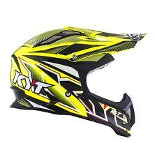 Casco Helm Casque Helmet KYT STRIKE EAGLE Stripe White Yellow Fluo 2018 YSEA0002