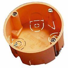 Hohlwanddose mit Metallkrallen orange 35mm tief Fräsloch 68mm, Menge wählbar