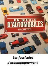 Solido Un siècle d'automobiles-Fascicules d'accompagnement (au choix)