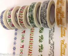 DECORATIVE CHRISTMAS WASHI TAPE - Masking, Gift, Craft Tape - Many designs...