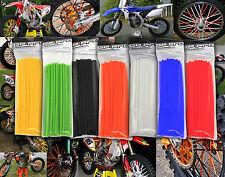 MOTOCROSS MX ENDURO WHEEL RIM SPOKE SHROUDS WRAPS SKINS COVERS ALL COLOURS