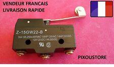 Microswitch OMRON grand format à rouleau  Z-15GW-B microswitch. 1,2 ou 5