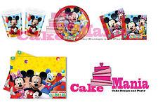 Coordinato Piatti Bicchieri Tovaglioli Tovaglia Candelina Topolino Mickey Mouse