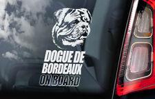 Dogue de Bordeaux - Car Window Sticker - Dog on Board Decal French Mastiff - V01