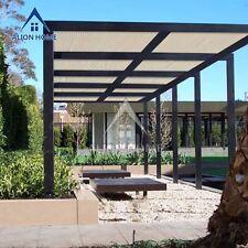 Alion Home© Shade Cloth 200GSM 90% UV Block Raw-Cut Patio Cover Screen Canopy