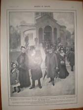 Fuera de la reina Victoria's mausoleo Frogmore 1902 Print