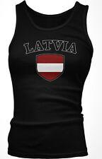 Latvia Flag Crest Latvian Latvija National Country Pride Boy Beater Tank Top