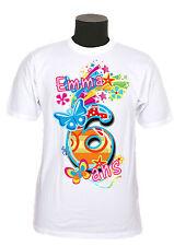 tee shirt anniversaire personnalisable chiffre et  prénom au choix réf AN02