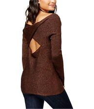 Bar Iii Womens Twisted Open-Back Knit Sweater
