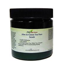 Aloe & Green Tea Face Scrub Pumice Jojoba Bead Olive Avocado Butter Kukui Oil