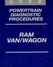 2002 DODGE RAM VAN WAGON Service Repair Shop Manual POWERTRAIN DIAGNOSTIC OEM