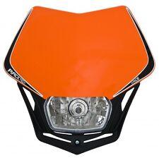Mascherina Faro Anteriore Moto Universale Racetech V-Face Arancio KTM EXC-F