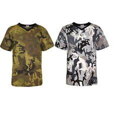 Enfants Garçons T shirts homme camouflage Serpent Charcoal T-shirt Noir Top 5-13 An