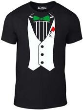 Tuxedo t shirt - Funny t-shirt comic fancy dress retro party smart shirt Bow Tie
