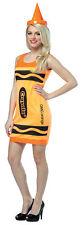 Crayola Tank Dress Adult Women's Costume Tunic & Hat Halloween Fancy Dress
