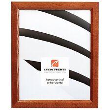Craig Frames Economy Brown, Simple Hardwood Picture Frame, Custom Sizes