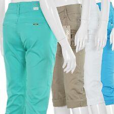 Damen Capri Hose 3/4 Stretch Jeans Short Bermuda kurze Sommerhose Neu GR. 36-46