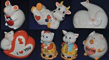 Spardose Sparschwein Keramik 10 lustige Tiere Schwein Kuh Maus Spartopf