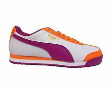 PUMA Junior ROMA BASIC JR Grade School Shoes Nectarine/White/Viola 354259-25 a1