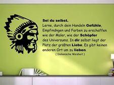 "Wandtattoo Indianische Weisheit ""Sei Du selbst..."" Wand Dekor Aufkleber SZ033"