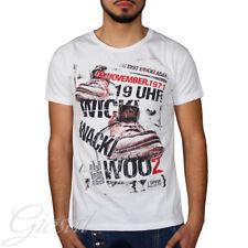 T-Shirt Uomo Mezza Manica Stampa Scarpe Scritta Girocollo Slim GIOSAL