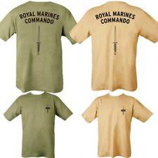 ROYAL MARINES COMMANDO T-SHIRT MENS S-2XL DOUBLE PRINT ARMY BRITISH NAVY