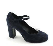 DIVINE FOLLIE 900 blu scarpe donna decolletè cinturino tacco grosso