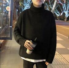 Korean Mens Turtleneck Sweater Knitted Winter Casua High Neck Warm Plus Sz T768