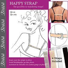 Braza Happy Straps Nylon Hold Bra Strap in Place Assorted Beige Black White 5080