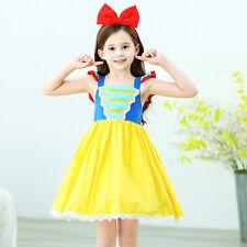 Girls Baby Snow White Princess Costume Halloween Party Dress Up + Headband ZG9