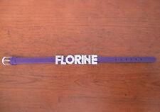 bracelet simili cuir violet personnalisable
