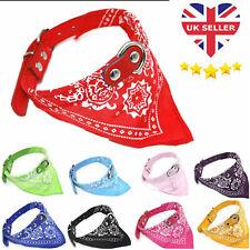 Dog Bandana Collar Adjustable Pet Cat Neckerchief 3 Sizes & 8 Colours Available