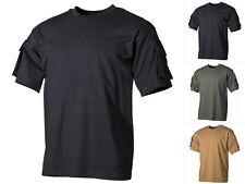 MFH US Army t-shirt con mangas bolsillos manga corta algodón s-3xl