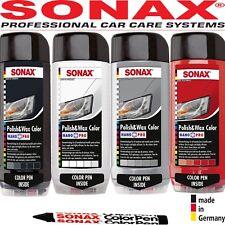 SONAX Polish & Carnauba Wax COLOR Nano Pro With FREE Scratch PEN 500ml CAR Care