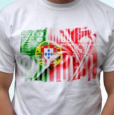 Diseño de la bandera de Portugal Blanco camiseta Top Camiseta Moderno-Para Hombre Mujer Niños Bebé Tamaños