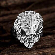 Bague ring motif tete lion argent pour homme Mode Bijoux Luxe Modèle 19