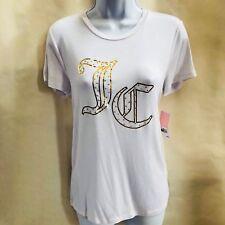 NWT Juicy Couture White Gold Rhinestone Gothic JC Logo Soft S M L